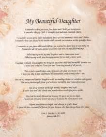 Beautiful Daughter Poems