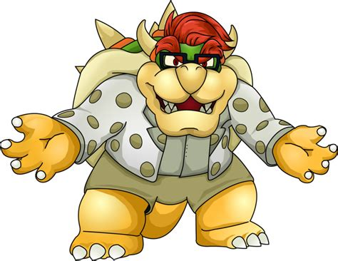 King Bowser Koopa Hipster Extraordinaire By