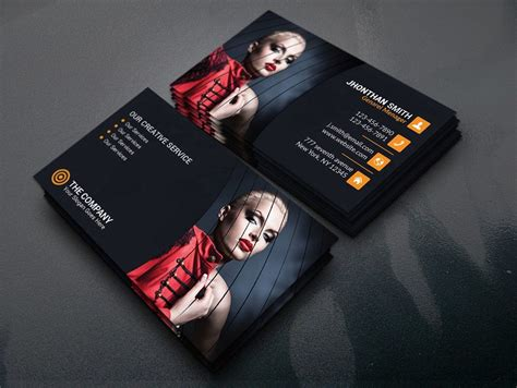 photography business card template psd business