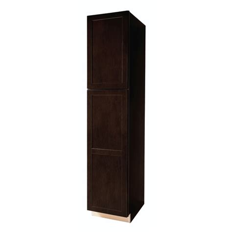 shop kitchen classics brookton 18 in w x 84 in h x 23 75 in d finished espresso birch pantry