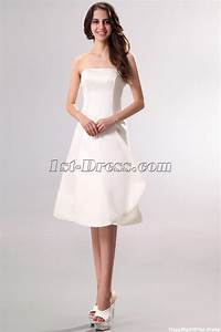 strapless simple short summer wedding dress1st dresscom With short simple wedding dress
