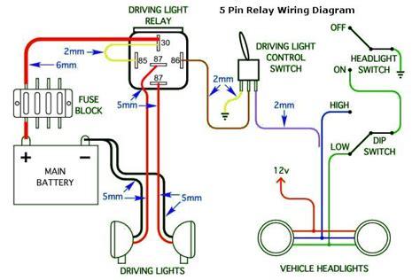 Pin Headlight Wiring Diagram For Cars Trucks Car