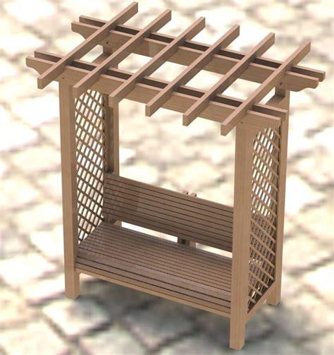garden arbor trellis  bench woodworking plans easy