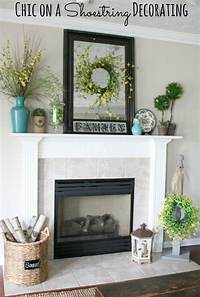 good looking mantel decoration ideas Chic on a Shoestring Decorating: Summer Mantel Featuring ...