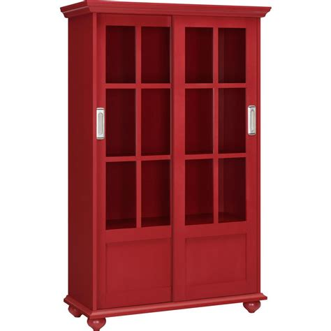 Bookcase Glass Door by Ameriwood Home Abel Place Glass Door Bookcase Hd07372