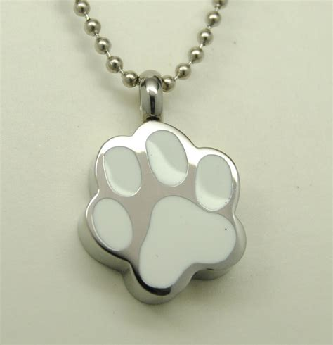 paw cremation urn necklace pet cremation jewelry pet urn