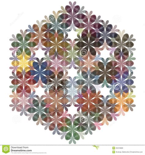 Abstract Flower Shapes by Abstract Flowers Background For Design Vector Stock