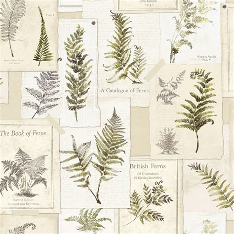 Ideco Home Fern Leaves Foral Wallpaper  Departments Diy