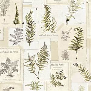 Ideco Home Fern Leaves Foral Wallpaper