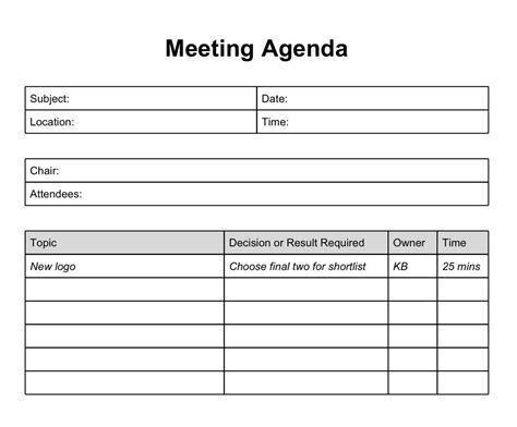 spring term project formal documents meeting agenda