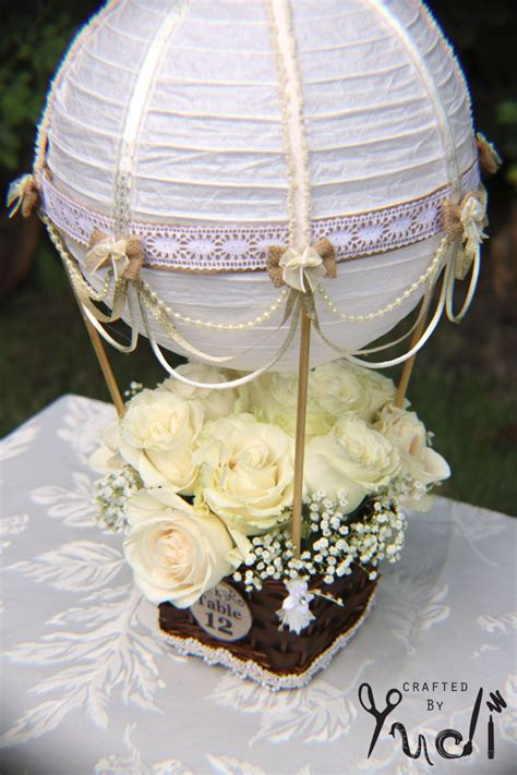 Hot Air Balloon Wedding Table Number Centerpiece Hot