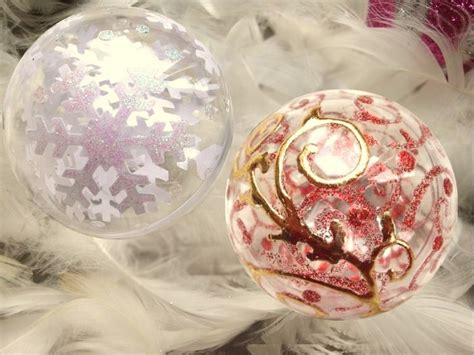 decoration de boule de noel transparente noel