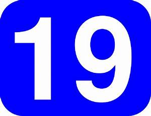 BLUE, WHITE, NUMBER, ROUNDED, RECTANGLE, 19, ROUND ...