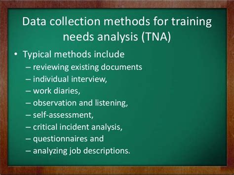 training  assessment analysis