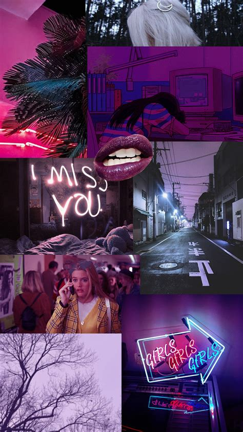 purple girly aesthetic phone wallpaper fisoloji