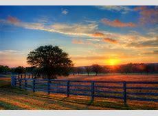 Beautiful sunrise morning landscape