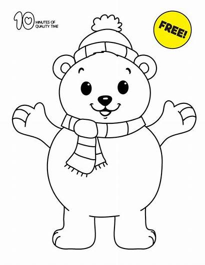 Polar Bear Coloring Pages Bunny