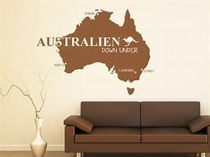 Wandfarben Brauntöne Wohnzimmer : wandtattoo australien von ~ Markanthonyermac.com Haus und Dekorationen