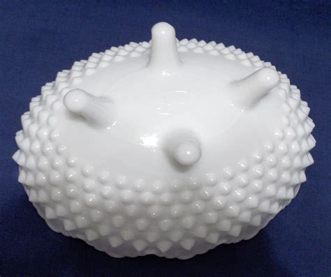 fenton milk glass fenton hobnail milk glass oval footed covered dish hobnail