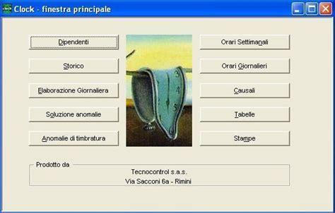 Ufficio Delle Entrate Rimini Orari by Software Di Rilevazione Presenze Clock Tecnocontrol