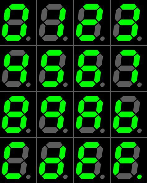 File:Seven segment display gallery.png   Wikimedia Commons