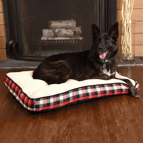 woolrich buffalo plaid gusseted dog bed 36x27