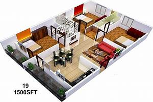1500 sq ft 3 BHK 3T Apartment for Sale in Sai Sumukha