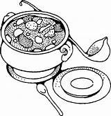 Soup Clipart Coloring Advertisement sketch template