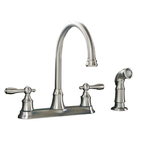 aquasource kitchen faucets shop aquasource stainless steel pvd 2 handle high arc