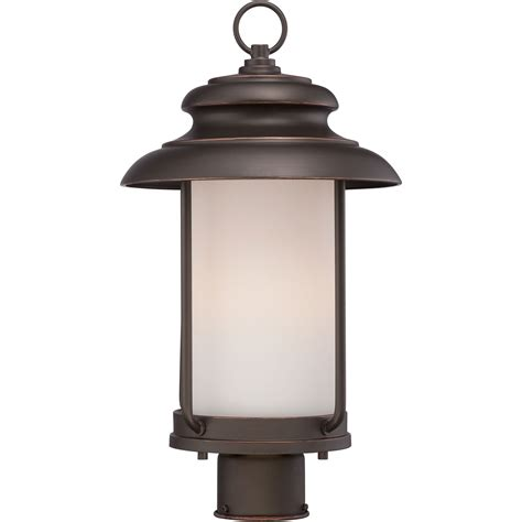 bethany mahogany bronze one light led outdoor post mount