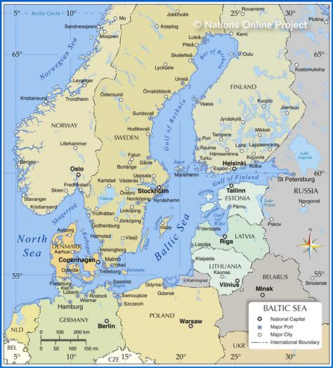 map   baltic sea region nations  project