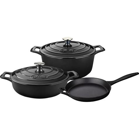 lave cuisine pro la cuisine pro 5pc enameled cast iron cookware set in