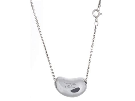 Tiffany & Co. 925 Sterling Silver Bean Pendant Charm Chain Necklace Mother Daughter Bracelets Ebay Piercing Jewelry Pandora Chain Bracelet Heart Child Sterling Silver Charms On Sale Store Shell Cameo History Pearl Ivory
