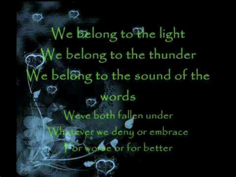 we belong pat benatar lyrics