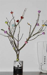 Arbre En Bois Deco : diy branches d cor es de coeurs en cuir cl mentine la ~ Premium-room.com Idées de Décoration