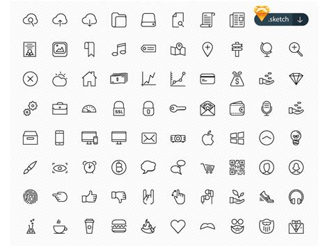 100 beautiful free icons sketch freebie free