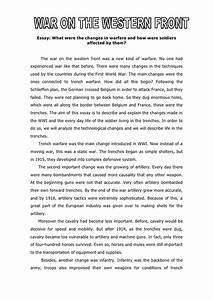 introduction to world war 1 essay