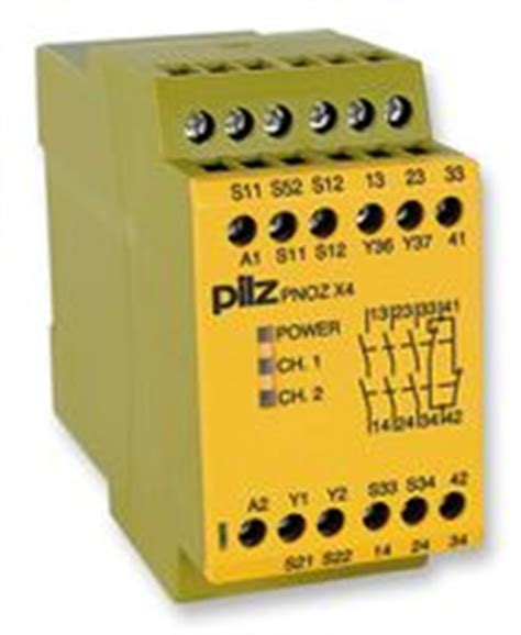 pnozx4 pilz relay safety 3no 24vdc farnell element14