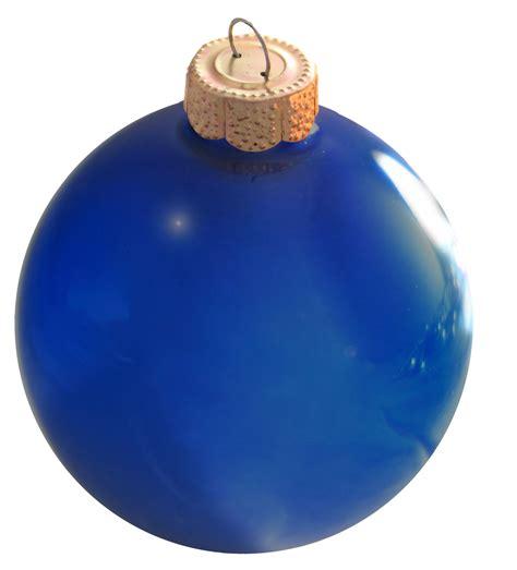 christmas decorations 1 25 quot cobalt blue ball ornament