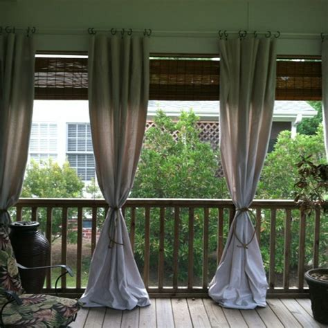 use inexpensive drop cloth to add style to your porch