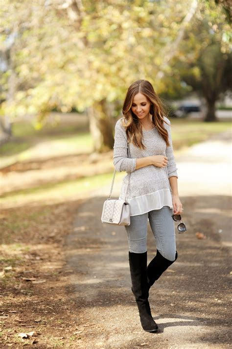 These Over The Knee Boots Look Great Worn With Grey Skinny