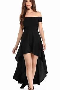 robes de soiree courte devant longue derriere noir epaules With robe longue boutonnée devant