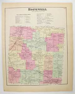 Antique Map Hopewell New York Map 1874 Vintage Hopewell Ny
