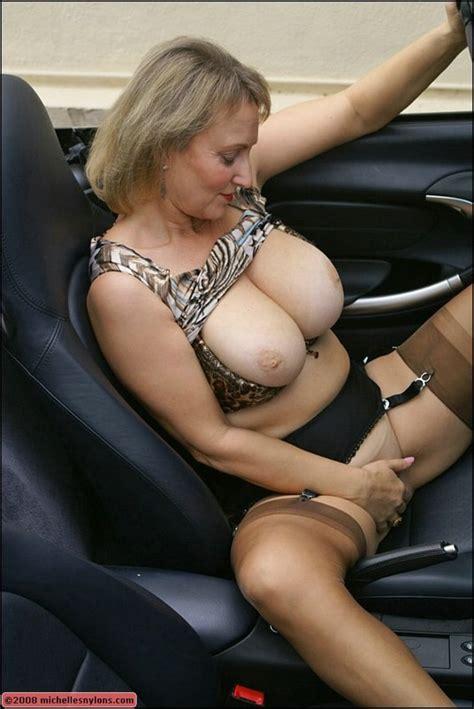 Big Tits Blonde Ass Stockings Outdoors High Heels European