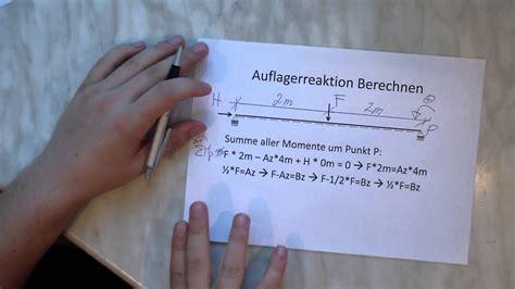 statik berechnen auflager berechnen einfeldtr 228 ger statik mechanik tutorial einf 252 hrung 3