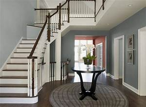 Deco entree maison cage d39escalier et couloir en 30 idees for Kitchen colors with white cabinets with papier carte grise