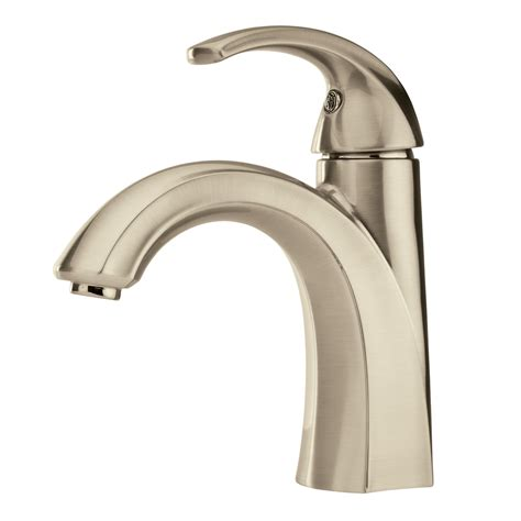 delta single lever kitchen faucet shop pfister selia brushed nickel 1 handle single 4