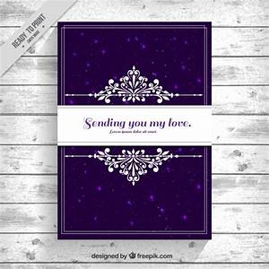 Elegant card with purple background Vector | Free Download