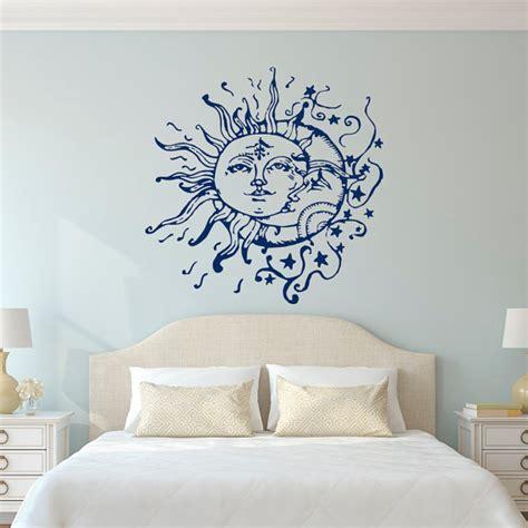 bedroom wall decor sun moon stars wall decals for bedroom sun and moon wall