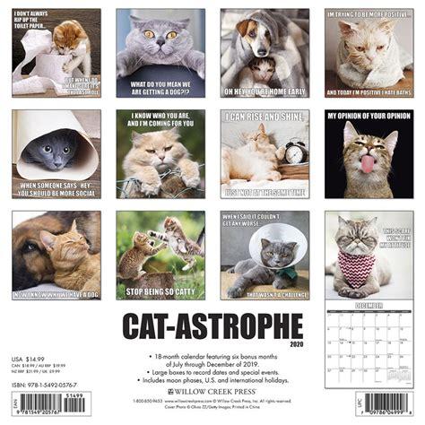 cat astrophe wall calendar